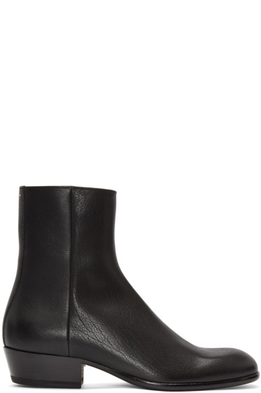 Maison Margiela - Black Cuban Heel Boot