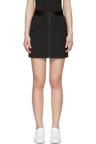 Alexander Wang - Black High-Waist Zip Miniskirt