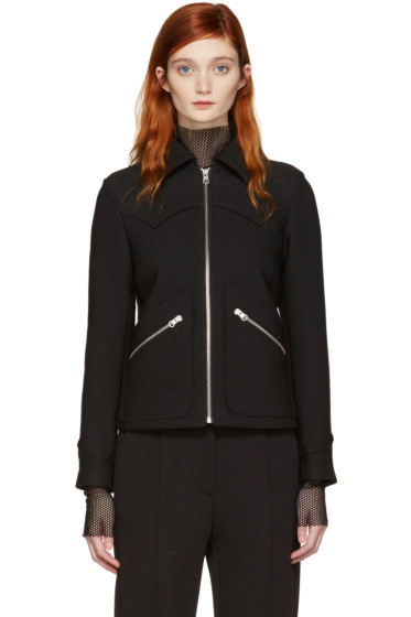 MM6 Maison Margiela - Black Zip-Up Jacket