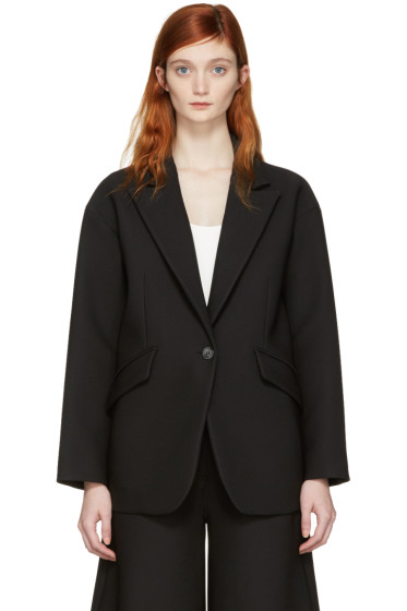 MM6 Maison Margiela - Black Single Button Jacket