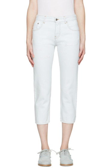 MM6 Maison Margiela - Blue Cropped Jeans