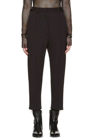 MM6 Maison Margiela - Black Twill Jersey Tuxedo Trousers