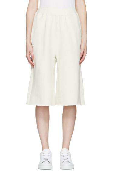 MM6 Maison Margiela - Cream Culotte Lounge Pants