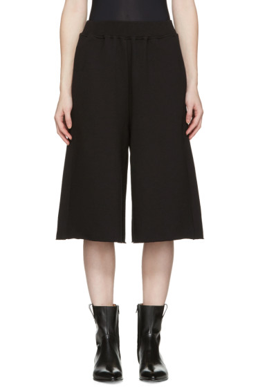 MM6 Maison Margiela - Black French Terry Culottes
