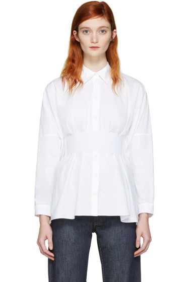 MM6 Maison Margiela - White Poplin Parachute Shirt