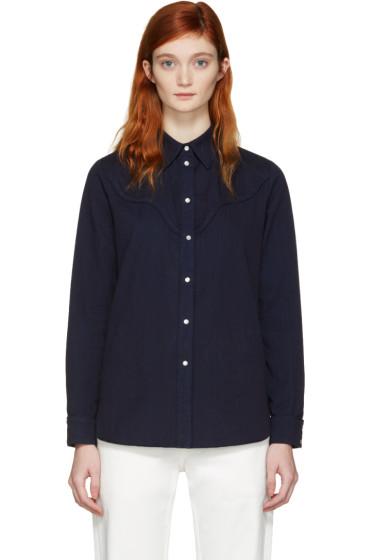 MM6 Maison Margiela - Blue Denim Shirt