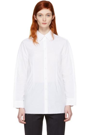 MM6 Maison Margiela - White Button Back Shirt