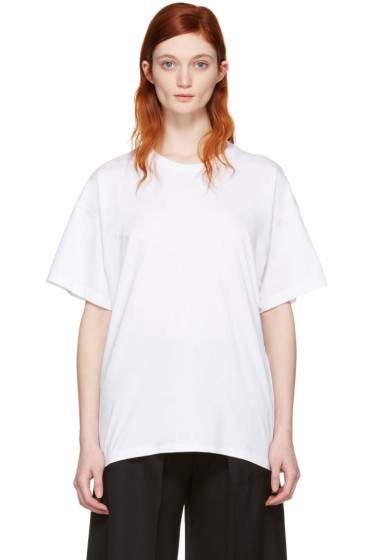 MM6 Maison Margiela - White Cotton T-Shirt