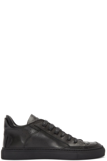 MM6 Maison Margiela - Black Leather Sneakers