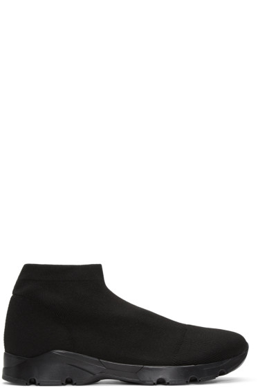MM6 Maison Margiela - Black Short Sock Sneakers