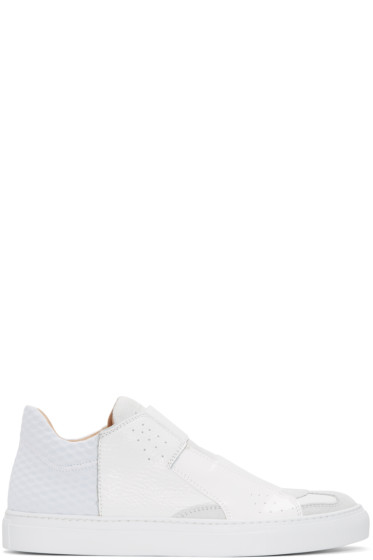MM6 Maison Margiela - White Leather Sneakers