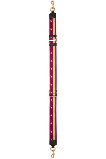 Marc Jacobs - Burgundy Stars & Stripes Shoulder Strap