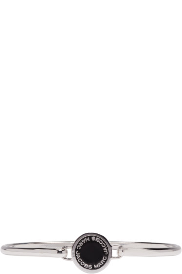 Marc Jacobs - Silver Enamel Logo Disc Hinge Bracelet