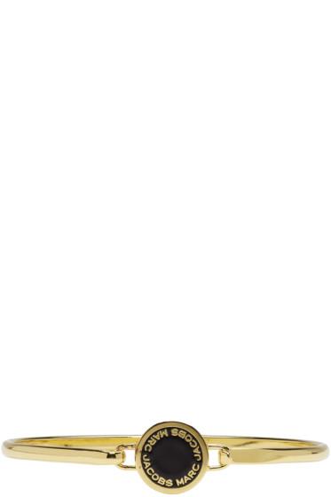Marc Jacobs - Gold Enamel Logo Disc Hinge Bracelet