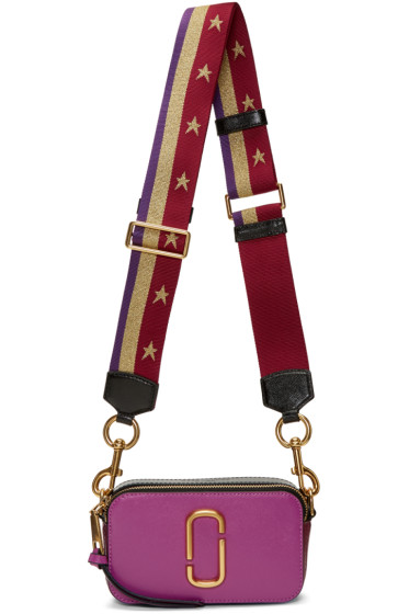 Marc Jacobs - Purple Stripes & Stars Snapshot Bag