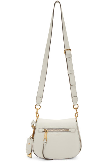 Marc Jacobs - White Small Nomad Recruit Saddle Bag