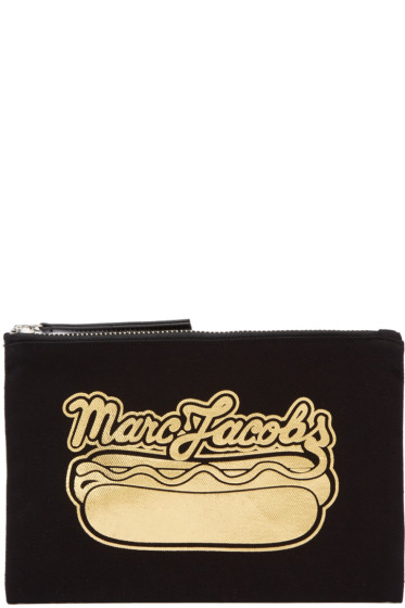 Marc Jacobs - Black Hot Dog Logo Pouch