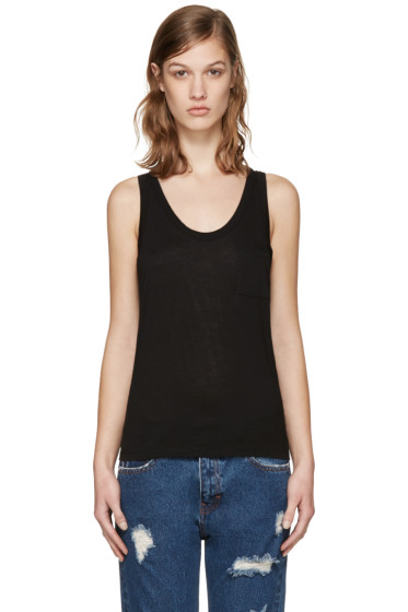 T by Alexander Wang - Black Classic Jersey Tank Top