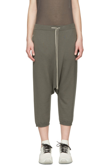 Rick Owens - Grey Drawstring Cropped Lounge Pants