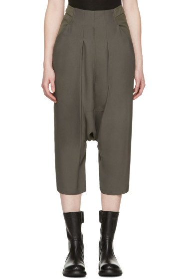 Rick Owens - Grey Creatch Cropped Trousers