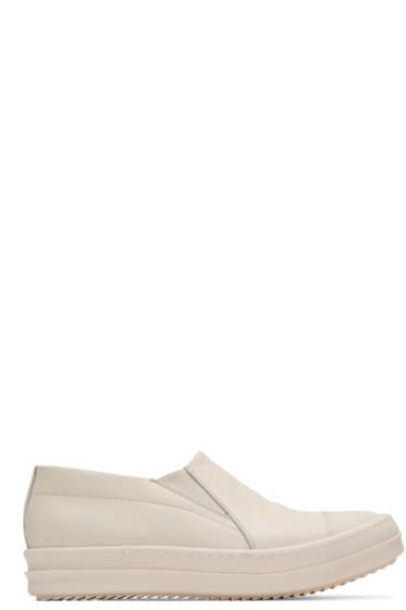 Rick Owens - Ivory Boat Slip-On Sneakers