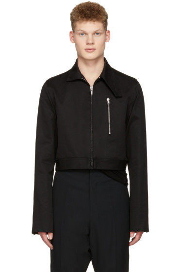 Rick Owens - Black Cropped Brother Jacket