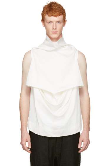 Rick Owens - White Pelican Turtleneck