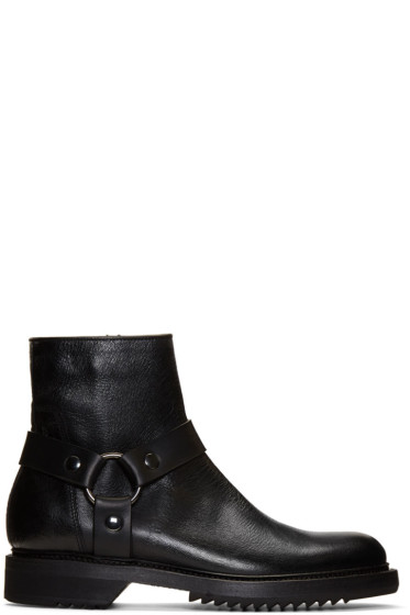 Rick Owens - Black Harness Creeper Boots