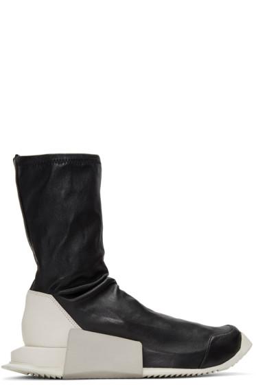Rick Owens - Black adidas Originals Edition Level Sock Mid-Calf Sneakers