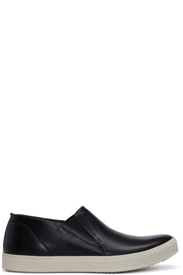 Rick Owens - Black Mastodon Deck Slip-On Sneakers