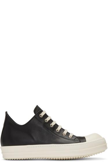 Rick Owens - Black Low Sneakers