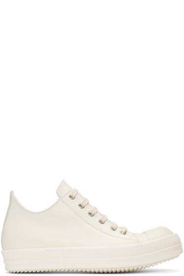Rick Owens - Ivory Low Sneakers