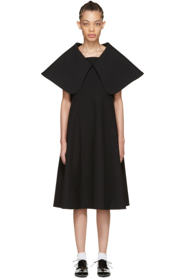 Comme des Garçons - Black Exaggerated Collar Dress