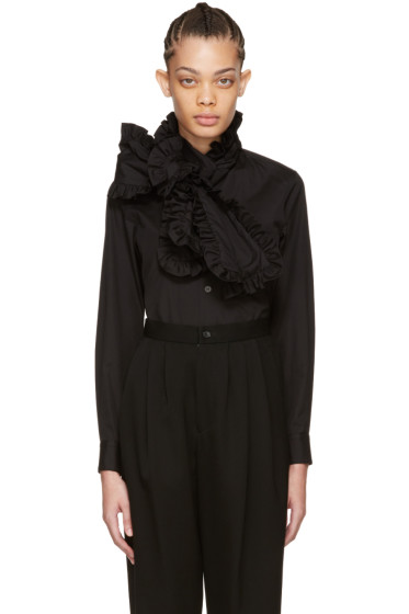 Comme des Garçons - Black Ruffle Tie Long Shirt