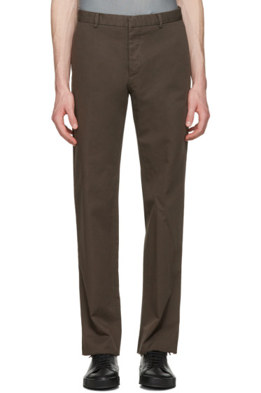 Jil Sander - Brown Twill Morris Trousers