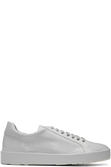 Jil Sander - Grey Leather Sneakers
