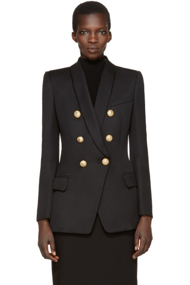 Balmain - Black Long Oversized Blazer