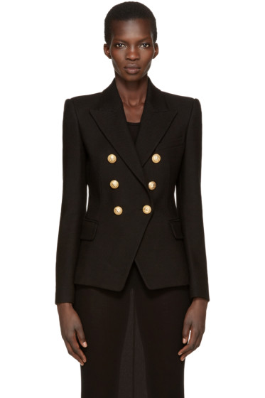 Balmain - Black Six-Button Blazer