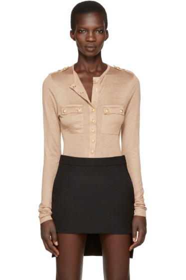 Balmain - Tan Pockets Pullover