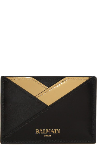 Balmain - Black Geometric Card Holder