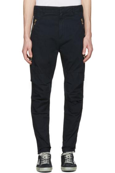 Balmain - Navy Zip Cargo Trousers