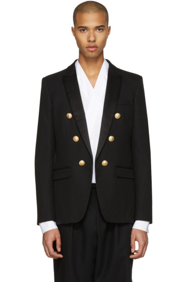 Balmain - Black Military Evening Blazer