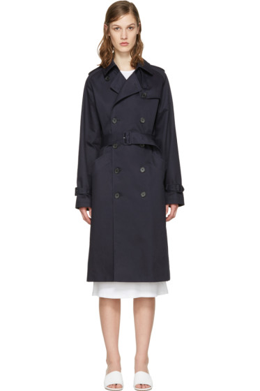 A.P.C. - Navy Greta Trench Coat