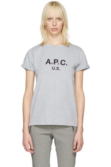 A.P.C. - Grey US Logo T-Shirt