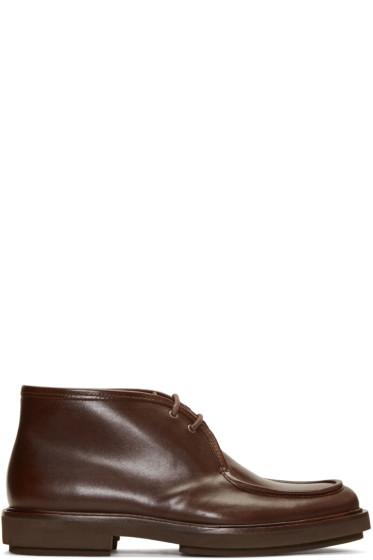 A.P.C. - Brown Etienne Desert Boots