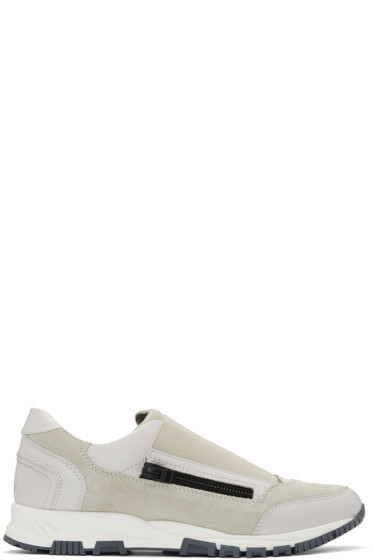 Lanvin - Off-White Zip Sneakers