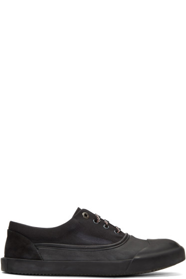 Lanvin - Black Canvas Oxford Sneakers