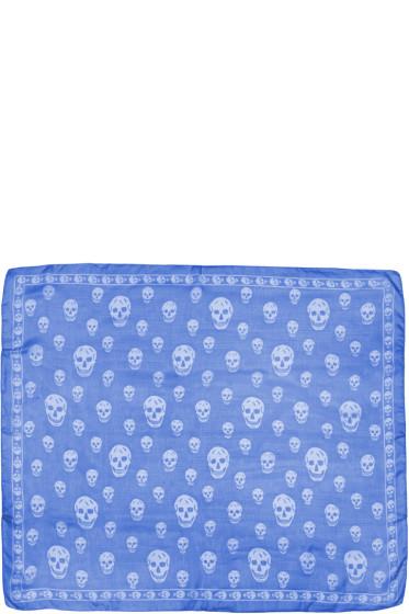 Alexander McQueen - Blue Skull Scarf