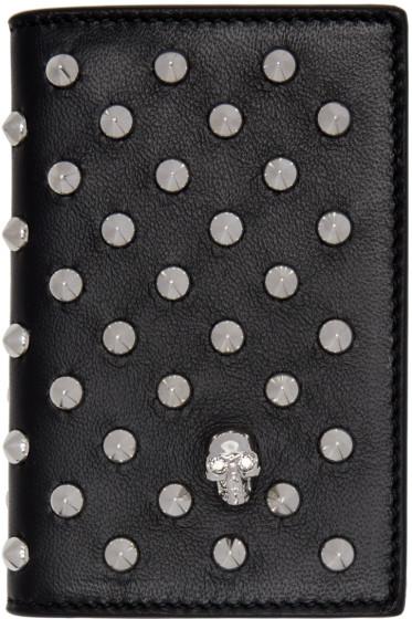 Alexander McQueen - Black Studded Pocket Organizer