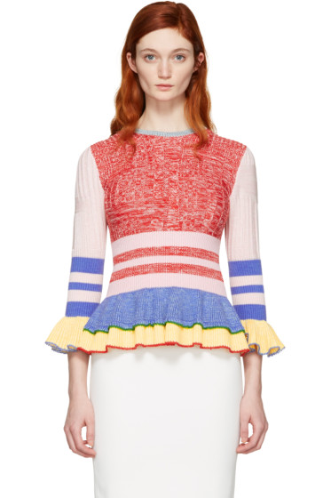 Alexander McQueen - Multicolor Peplum Sweater